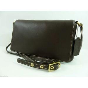 COACH Legacy Demi Flap Shoulder Bag Brown #9599